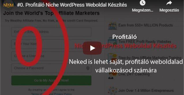 INGYENES WordPress niche weboldal készítés tanfolyam