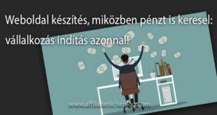 Weboldal készítés, miközben pénzt is keresel: vállalkozás indítás azonnal!
