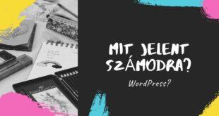 WordPress Niche weboldal készítés mit jelent számodra