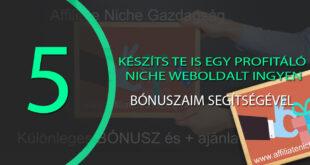 Niche Weboldal készítés: készíts Te is egy profitáló weboldalt ingyen