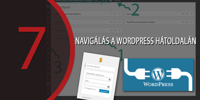 WordPress weboldal készítés: Navigálás a WordPress hátoldalán