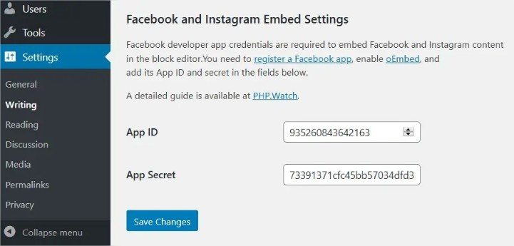 Facebook és Instagram embeds bővítmény (plugin)