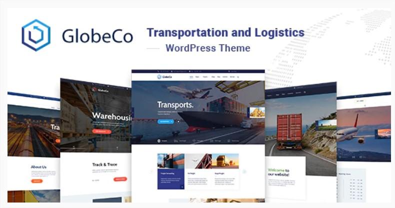 GlobeCo - Szállítás és logisztika prémium WordPress sablonok ingyen tagja