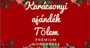 Prémium WordPress sablonok ingyen- Karácsonyi ajándék Tőlem
