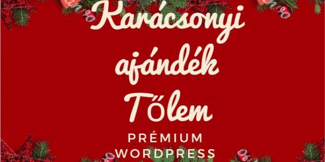 Prémium WordPress sablonok ingyen- Karácsonyi ajándék Nagy Pétertől