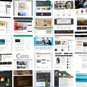 3000-nél is több professzionálisan fmegtervezett weboldal készítés sablon és téma
